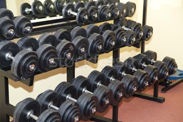 гантели современных спортзал спорт фитнес подготовки Сток-фото © Hochwander