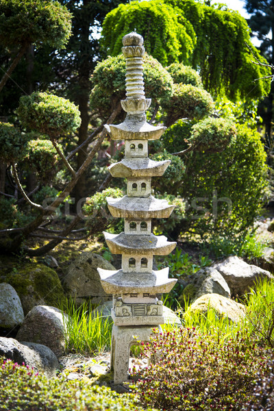 Sculpture in japanese garden Stock photo © Hochwander