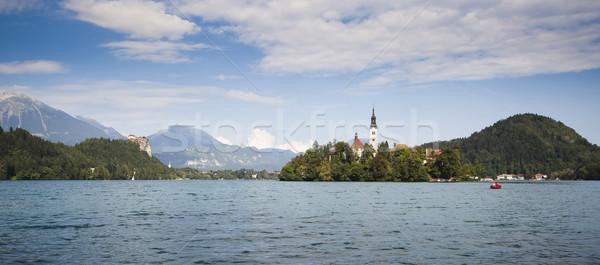パノラマ 湖 スロベニア 1 美しい 地域 ストックフォト © Hochwander