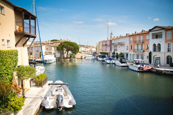 Portu francuski Wenecja niebo wody domu Zdjęcia stock © Hochwander