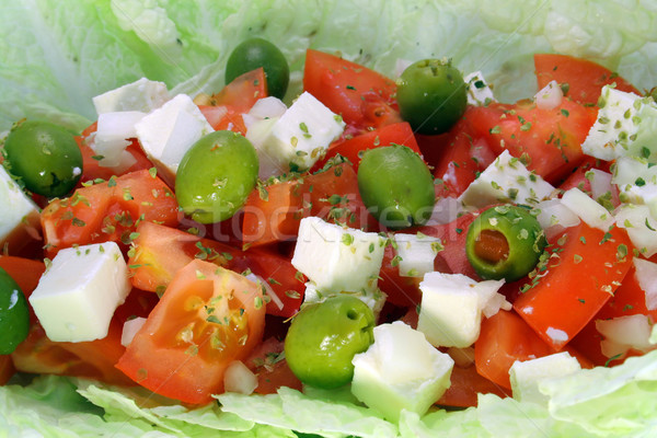 greek salad macro Stock photo © Hochwander