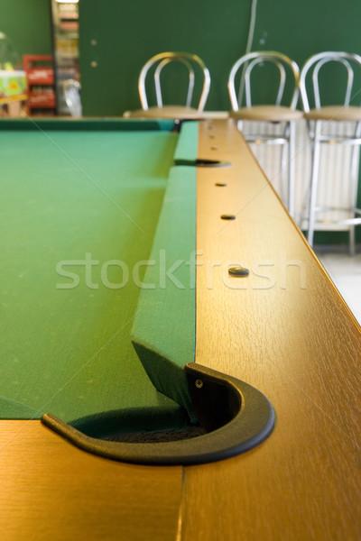 Stok fotoğraf: Köşe · bilardo · masası · cep · büyük · alan · havuz