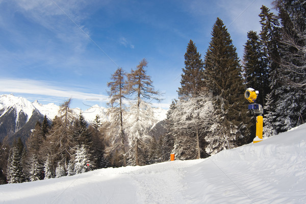 snow cannon in italian Dolomites Stock photo © Hochwander