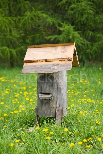Eski arı kovan kırsal manzara yaz Stok fotoğraf © Hochwander
