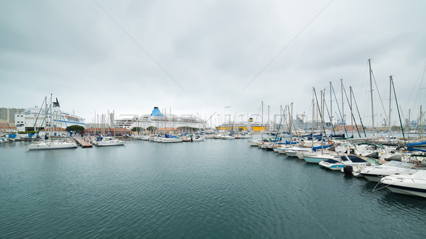 Yacht harbour in Toulon Stock photo © Hochwander