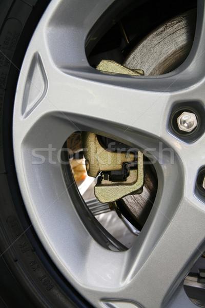 Foto stock: Fragmento · freno · carretera · negro · limpio