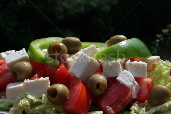greek salad Stock photo © Hochwander