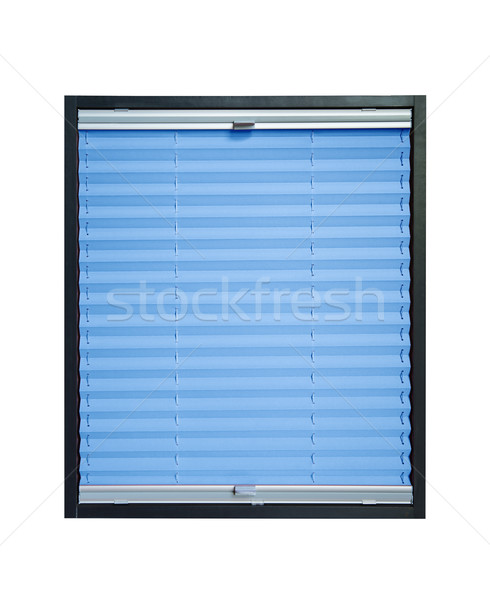 Pleated blind - light blue azure color Stock photo © Hochwander