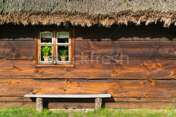 Oude landelijk home Polen erfgoed park Stockfoto © Hochwander