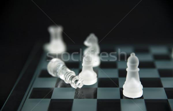 glass chess - checkmate Stock photo © Hochwander