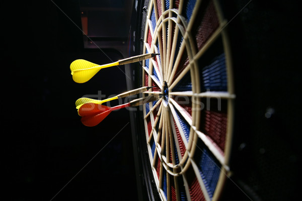 dart board with three darts Stock photo © Hochwander
