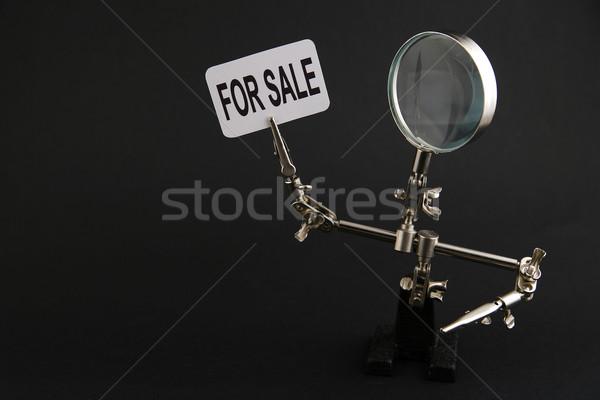 Alkat acél férfi vásár felirat fekete Stock fotó © Hochwander