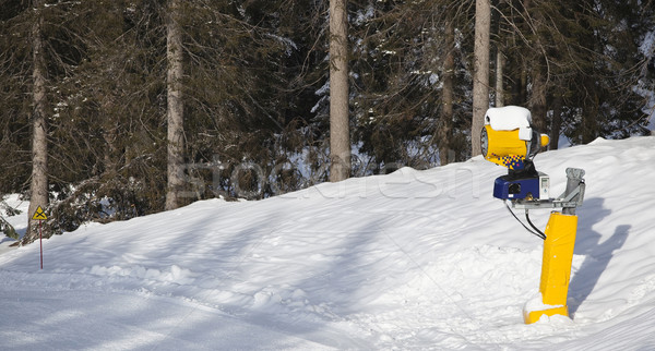snow cannon in italian Dolomites Stock photo © Hochwander