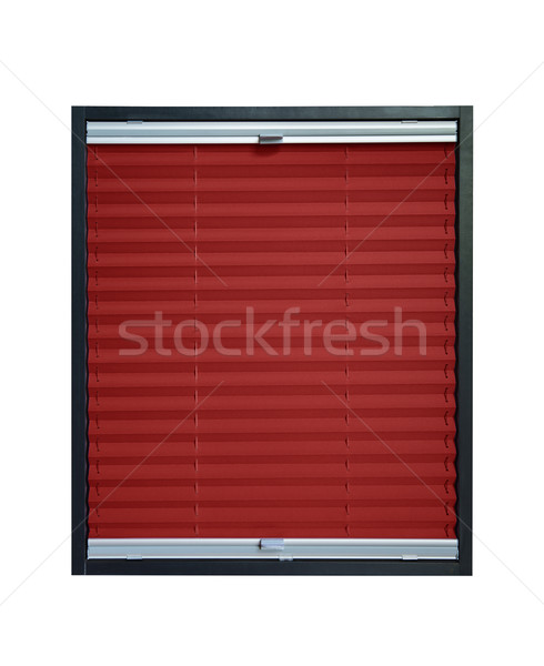 Pleated blind dark red maroon crimson color Stock photo © Hochwander