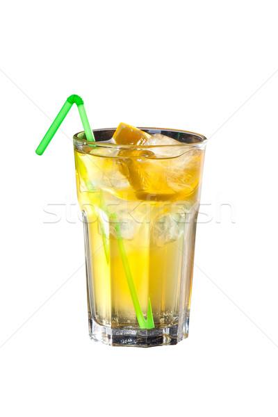 Cóctel vodka limón jugo aislado blanco Foto stock © Hochwander
