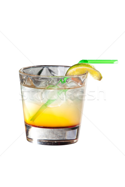 Cocktail wodka citroen sap geïsoleerd witte Stockfoto © Hochwander
