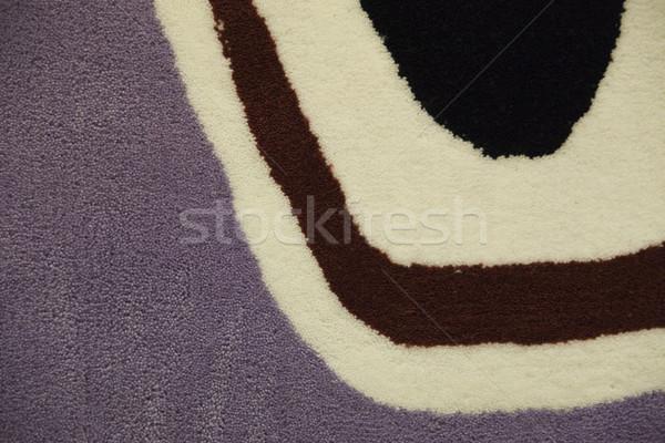 Fragmento alfombra alfombra roja suave toque textura Foto stock © Hochwander