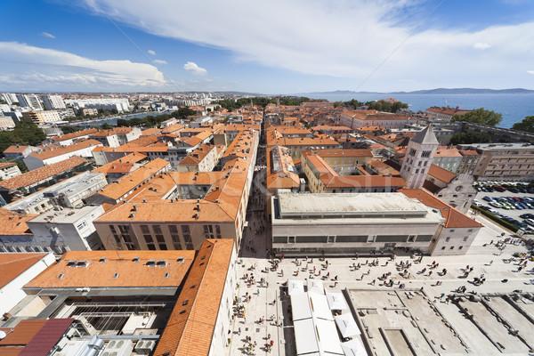 Panorama of Zadar Stock photo © Hochwander