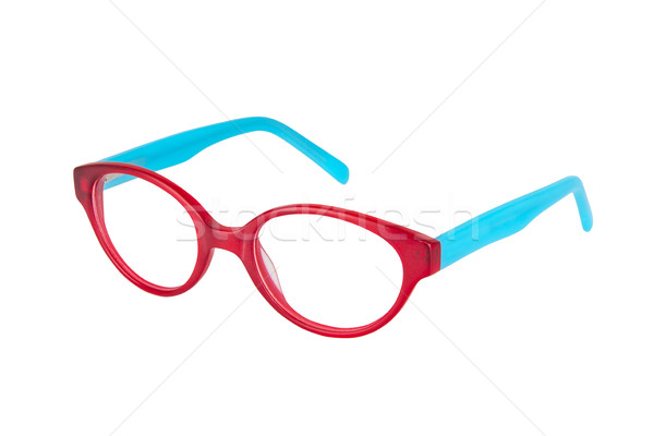 Szemüveg fehér pár tökéletes kék szín Stock fotó © Hochwander