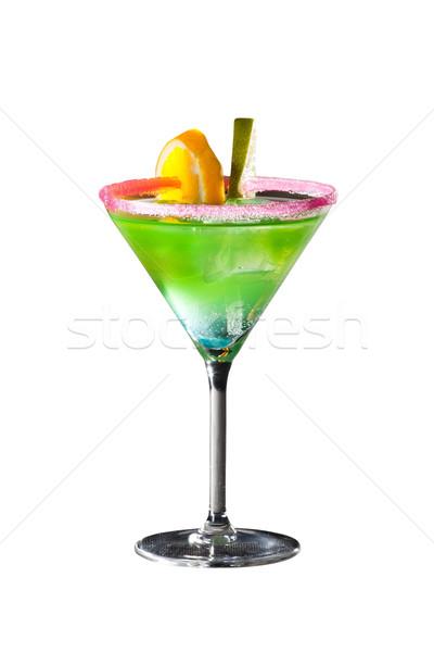 Cocktail with vodka, lemon. orange and juice isolated on white Stock photo © Hochwander