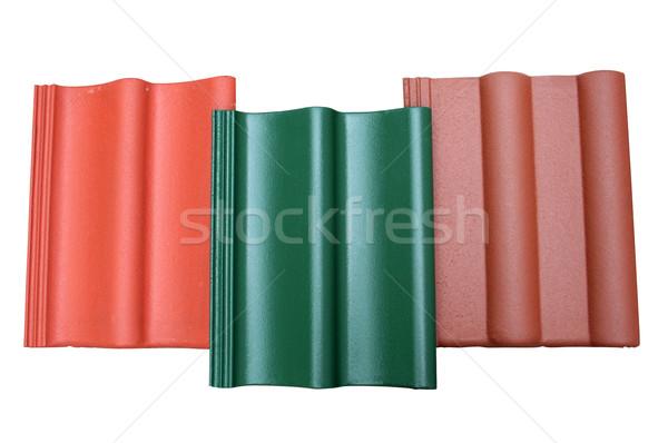 üç beton fayans inşaat kırmızı çatı Stok fotoğraf © Hochwander
