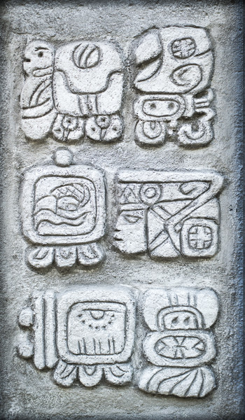 Ancient Mayan hieroglyphs Stock photo © Hochwander
