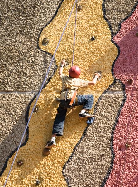 climbing the wall Stock photo © Hochwander