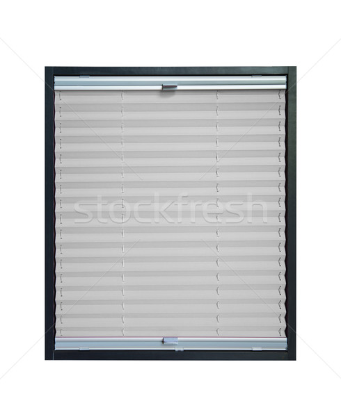 Pleated blind - grey color Stock photo © Hochwander