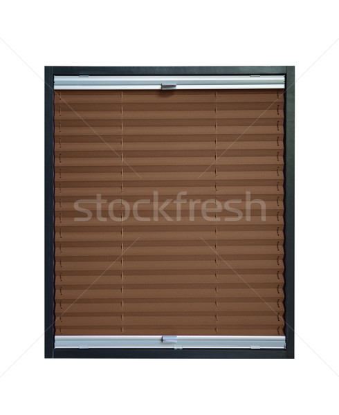 Pleated blind - brown color Stock photo © Hochwander