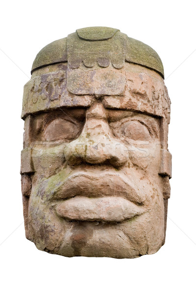 ancient olmec head Stock photo © Hochwander