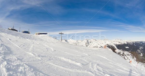 Winter landschap ski lift foto Italiaans Stockfoto © Hochwander