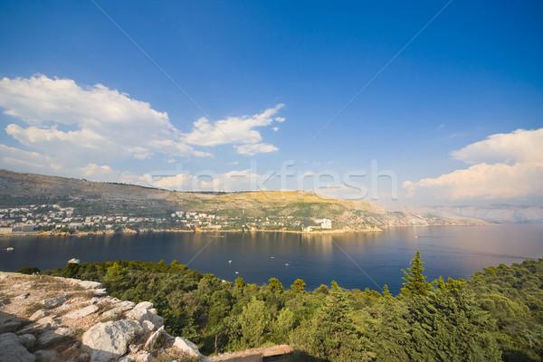 Gyönyörű kilátás sziget tengerpart tájkép tenger Stock fotó © Hochwander