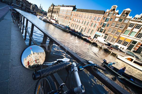 Soleado Amsterdam uno gran angular vista agua Foto stock © Hochwander