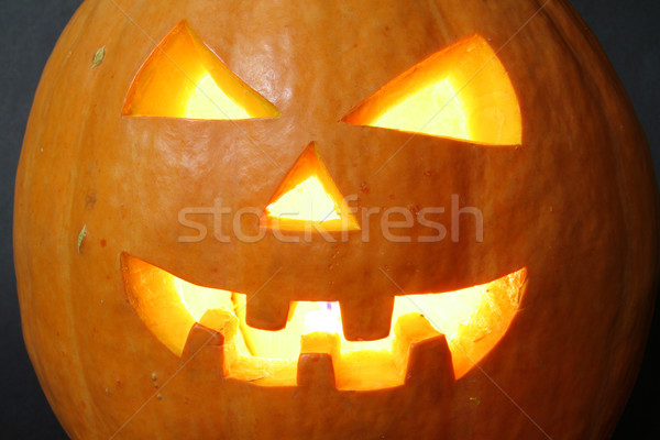 face of halloween pumpkin Stock photo © Hochwander
