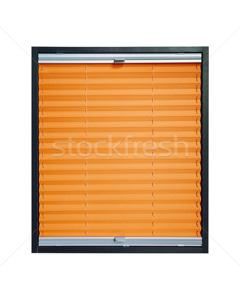 Pleated blind - orange color Stock photo © Hochwander