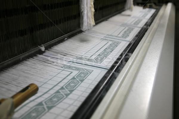 çalışma pamuk kumaş fabrika Polonya hareketli Stok fotoğraf © Hochwander
