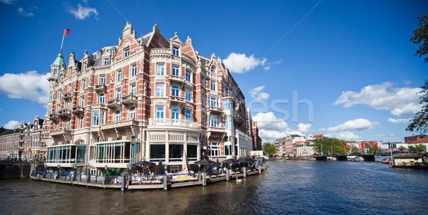 Amsterdam een mooie gebouwen water stad Stockfoto © Hochwander