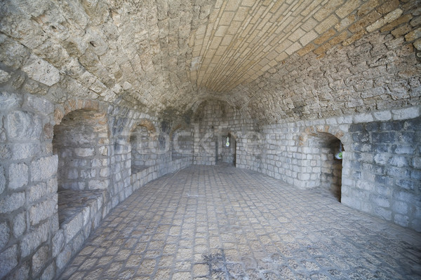 Fragment oude stad muren Kroatië Stockfoto © Hochwander