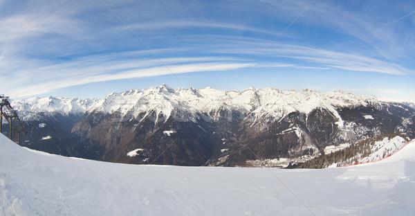 Winter landschap fisheye lens foto Italiaans Stockfoto © Hochwander