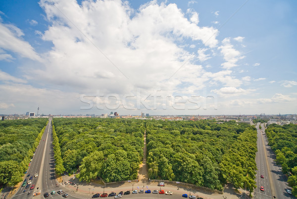 Панорама Берлин лес улице деревья лет Сток-фото © Hochwander