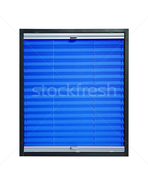 Blinde Blauw azuur kleur geïsoleerd witte Stockfoto © Hochwander