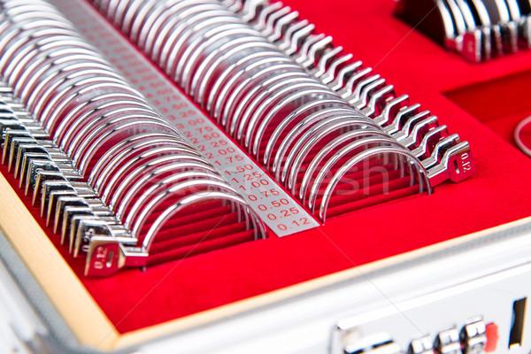 набор Объективы согласование окулист служба чемодан Сток-фото © Hochwander