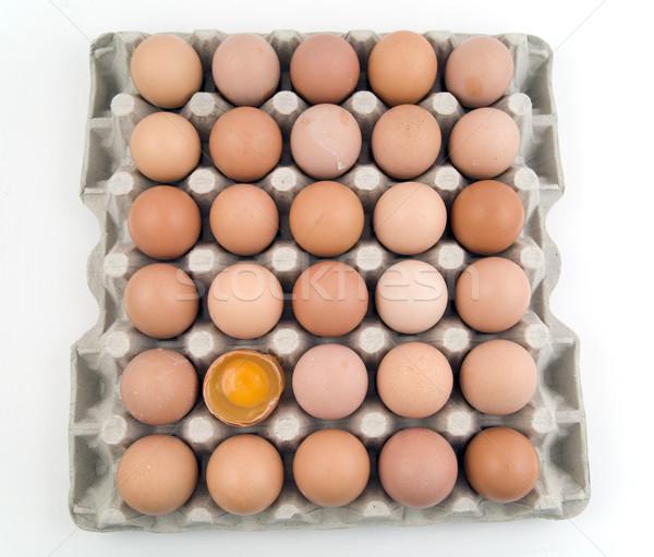яйца один яйцо женщину продовольствие Сток-фото © Hochwander