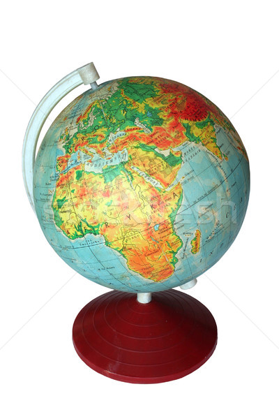 Wereldbol afrika Europa school kaart aarde Stockfoto © Hochwander