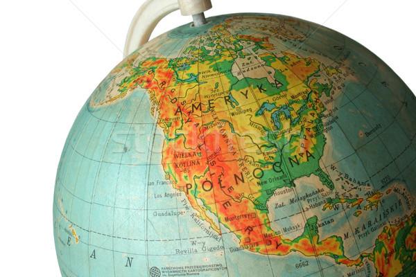 Globo peça Estados Unidos escolas mapa terra Foto stock © Hochwander