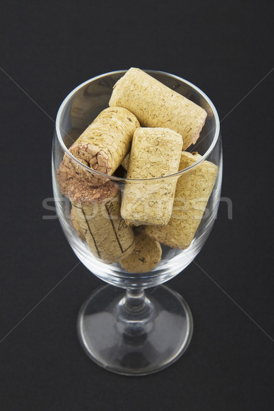 wineglass filled with corks Stock photo © Hochwander