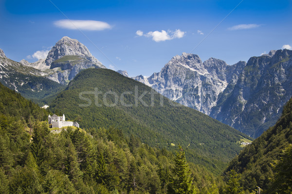 Castle ruins in Julian Alps, Slovenia Stock photo © Hochwander