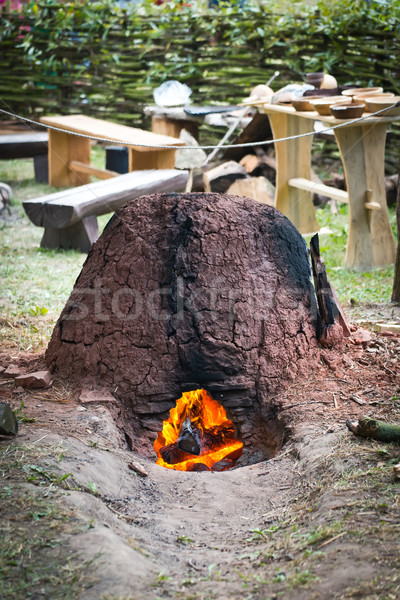 Old slavic furnace Stock photo © Hochwander