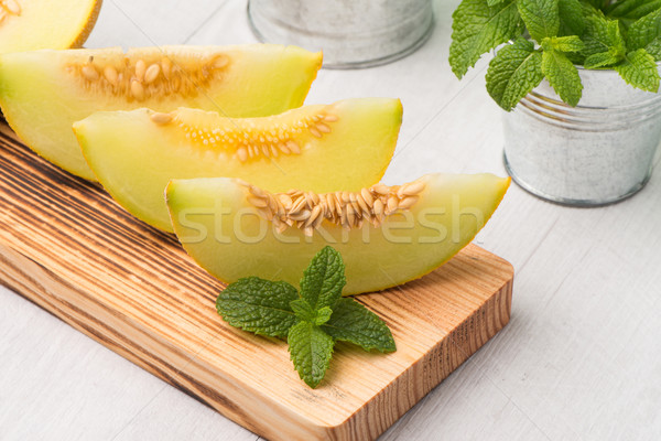 Honeydew melon Stock photo © homydesign