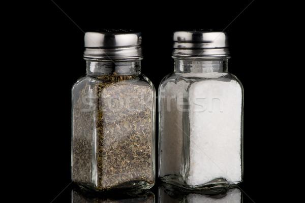 Sal orégano metal cozinhar fotografia isolado Foto stock © homydesign